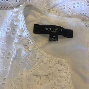 Nine West Dresses - Nine West white eyelet dress
